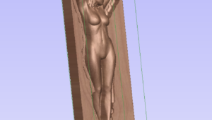 VCarve Vectric sexy woman Figur 3D CNC Fräsen multisided milling