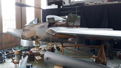 Vampire DH 100 wird in Altenrhein restauriert