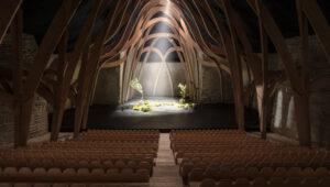 ETH Architektur Modell Saal gefräst aus Okumesperrholz mit Vectric